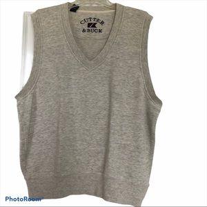 CUTTER & BUCK golf vest V-neck cotton medium 🍣